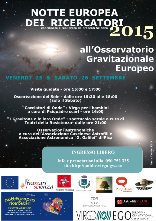 locandina Notte Europea Ricercatori 2015